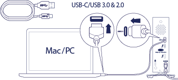 LaCie d2 Thunderbolt 3 USB-C User Manual - Getting Connected
