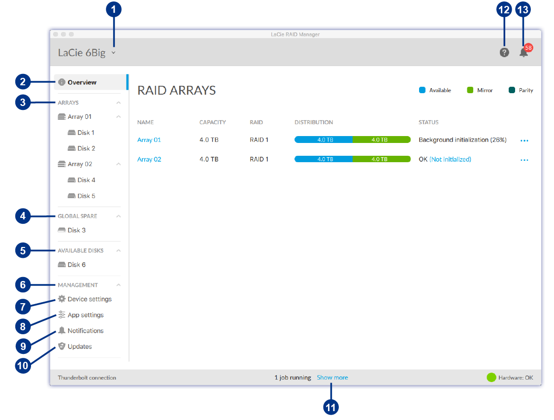 Lacie Raid Manager S Intuitive Interface Makes It Easy To Configure And Maintain Arrays Disks For All Of Your Multi Drive Devices