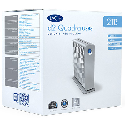 d2 quadra USB 3.0 packed