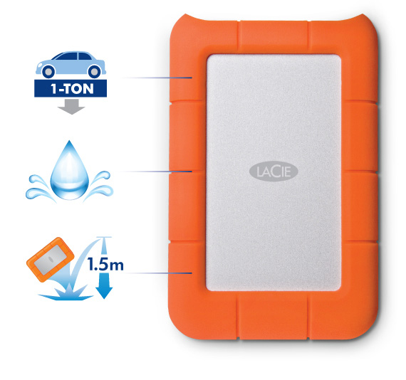 Maximum Reliability The Lacie Rugged Mini