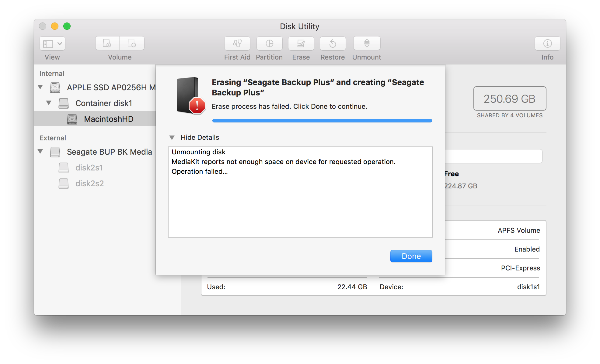 Disk Utility Errors and Questions for macOS 10 11 and higher | LaCie