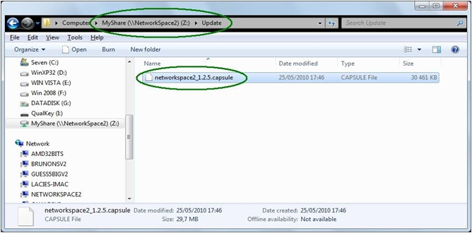 lacie network space 2 update firmware