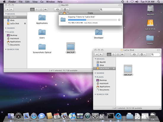 Drag and drop tutorial: Mac OS X | LaCie Support ASEAN